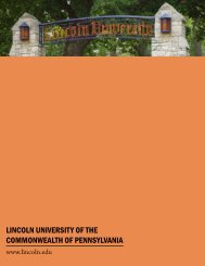 Lincoln University of the Commonwealth of Pennsylvania