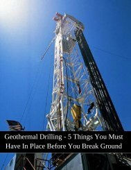 Geothermal Drilling - 5 Things You Must Have In Place Before You Break Ground