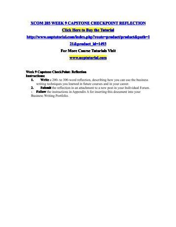 xcom 285 week 6 checkpoint group communication Xcom 285 week 6 checkpoint group communication $499 more info add to cart xcom 285 week 5 individual assignment store operations messages $899 more info  xcom 285 week 2 checkpoint audience-focused communication matrix $499 more info add to cart xcom 285 week 1 checkpoint technology–trendy communication $499 more info.