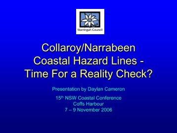 Collaroy/Narrabeen Coastal Hazard Lines - Time For a Reality Check?