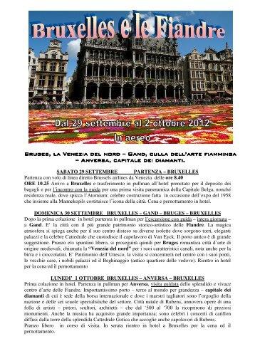 Bruges, la Venezia del nord Bruges, la Venezia ... - Solandra Viaggi
