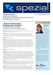 TK spezial Informationsdienst der Techniker Krankenkasse Hamburg