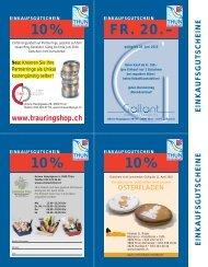 10% 10% FR. 20.– 10% - Thun