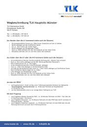Wegbeschreibung TLK Hauptsitz Münster - TLK Distributions GmbH
