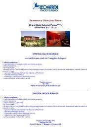 Benessere a Chianciano Terme Grand Hotel ... - Leonardi Viaggi