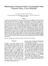 Mineralogical characterization of paulingite from Vinarick i Hora ...