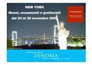 NEW YORK Musei monumenti e grattacieli dal 24 al 30 novembre 2009