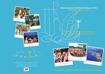 Téléchargez la brochure - Centre Méditerranéen d'Etudes Françaises