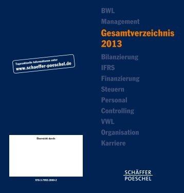 Gesamtverzeichnis 2013 - Schäffer-Poeschel Verlag GmbH