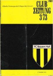 Club Zeitung 3/73 - SpVgg Bayern Hof