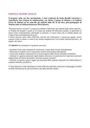 Scarica il lavoro completo - Liceo Carlo Sigonio