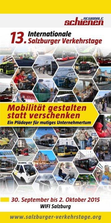 Info-Folder 13. Internationale Salzburger Verkehrstage