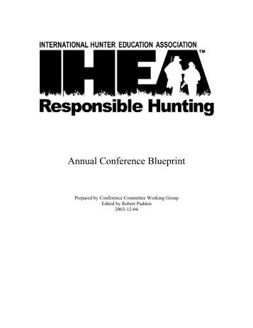 Annual Conference Blueprint