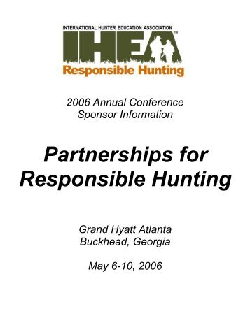 Partnerships for Responsible Hunting