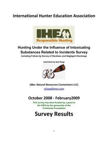 Survey Results - International Hunter Education Association