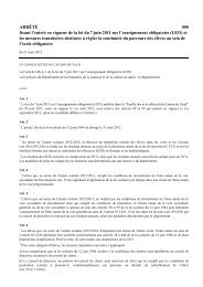 ARRÊTÉ 000 fixant l'entrée en vigueur de la loi du 7 juin 2011 sur l ...