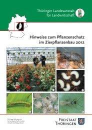 Hinweise zum Pflanzenschutz im Zierpflanzenbau 2012 - TLL
