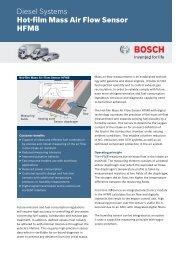 Hot-film Mass Air Flow Sensor HFM8 - Bosch - Kraftfahrzeugtechnik
