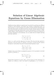 Solution of Linear Algebraic Equations by Gauss Elimination thickwalled