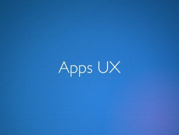 Apps UX