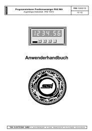 Programmierbarer Positionsanzeiger PAS 96A - TWK-ELEKTRONIK ...
