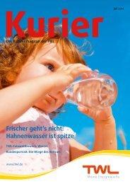 Hahnenwasser ist spitze - Technische Werke Ludwigshafen AG