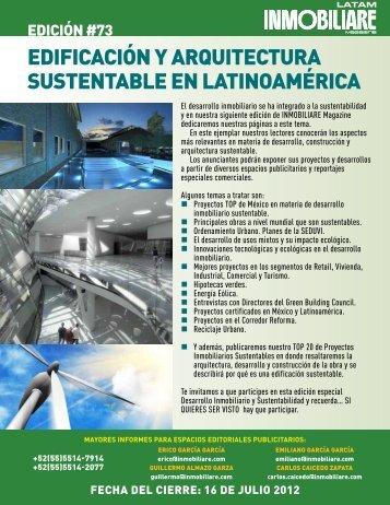 EDIFICACIÓN Y ARQUITECTURA SUSTENTABLE EN LATINOAMÉRICA