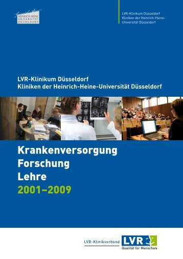 Krankenversorgung Forschung Lehre 2001–2009 - Rheinische ...