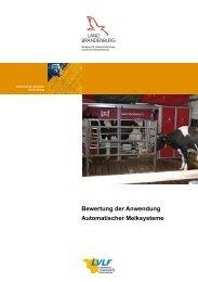 Bewertung der Anwendung Automatischer Melksysteme – Basis für ...