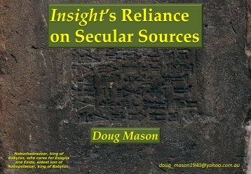 on Secular Sources