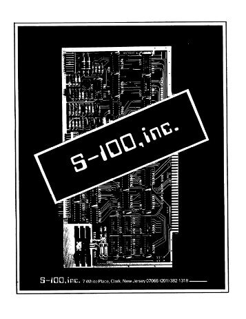 1978 S-100 Inc. catalog - Retrotechnology.com