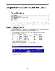 MegaRAID SAS User Guide for Linux