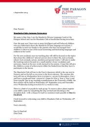 1 September 2013 Dear Parents Mandarin Club: Autumn Term 2013 ...