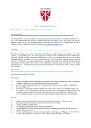 Post: Teaching Assistant Reporting to: Teachers, Headmaster and ...