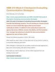 HSM 210 Week 8 Checkpoint Evaluating Communication Strategies.pdf