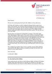 Roman Bath & Jamie Oliver letter - The Paragon School