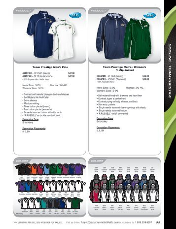 Russell Athletic Sideline Apparel Warehouse Catalog 2012