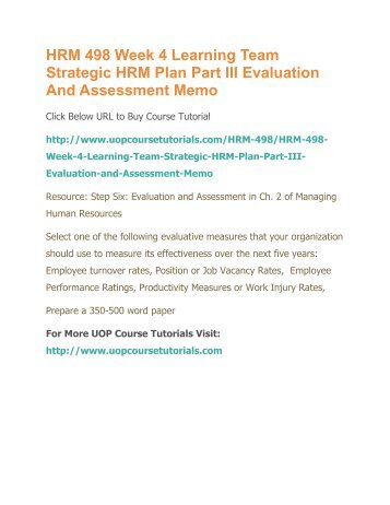 career management plan summary hrm 531 Hrm 531 week 6 career development plan summary this study guide includes two separate example papers on both kudler fine foods virtual organization and interclean individual assignment: career development plan summary.