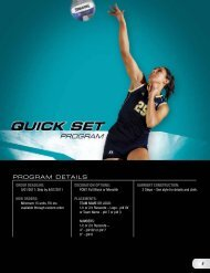 Russell Athletic Quick Set Volleyball Uniform Program