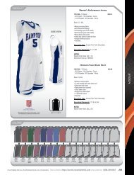 Russell Athletic 2012 Womens Basketball Stock Uniform Catalog