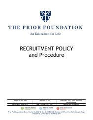 RECRUITMENT POLICY and Procedure