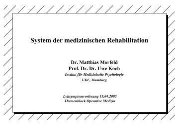 System der medizinischen Rehabilitation