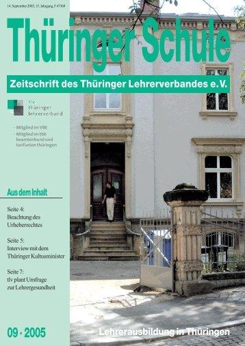 www .tlv.de Tel.: 03 61 / 6 02 13 23 Fax - VBE Verband Bildung und ...
