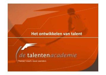 Het ontwikkelen van talent