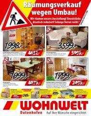 Sie sparen € 599. - Wohnwelt Dutenhofen