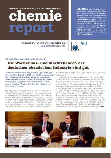 Die Wachstums- und Marktchancen der deutschen chemischen - VCI