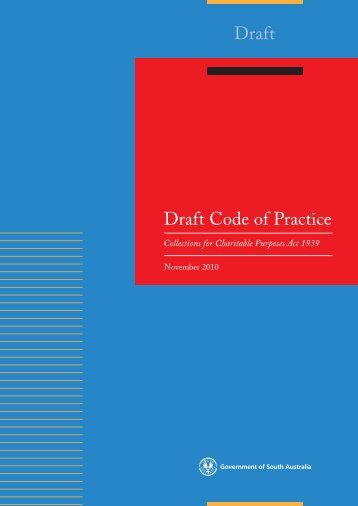 Draft Code of Practice - Consumer and Business Services - SA.gov.au