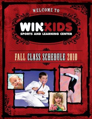 Fall CLASS SCHEDULE 2010