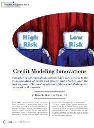 Credit Modeling Innovations