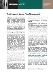The Future of Market Risk Management
